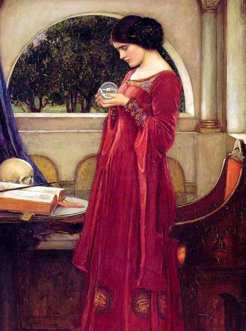 John William Waterhouse - Globul de Cristal ( 1902 )